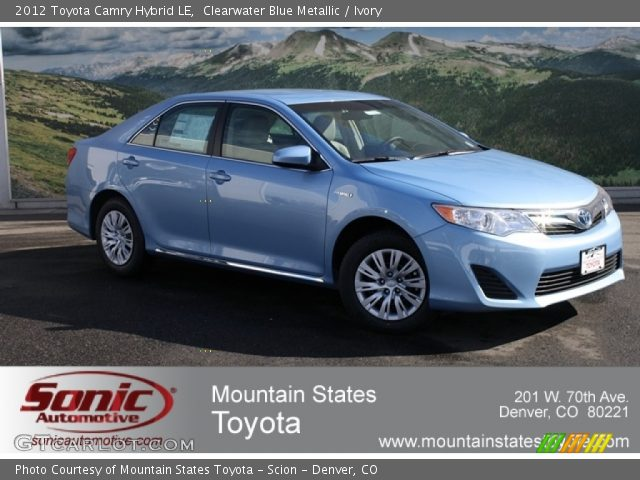 clearwater blue metallic 2012 toyota camry hybrid le ivory interior vehicle. Black Bedroom Furniture Sets. Home Design Ideas