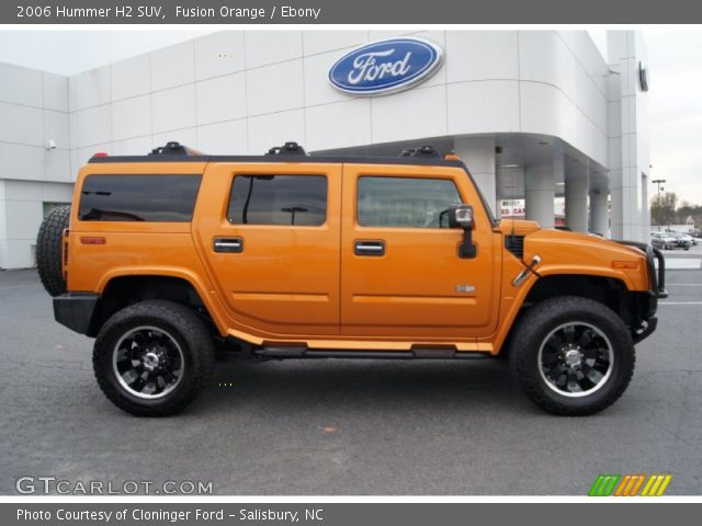 2006 Hummer H2 SUV in Fusion Orange