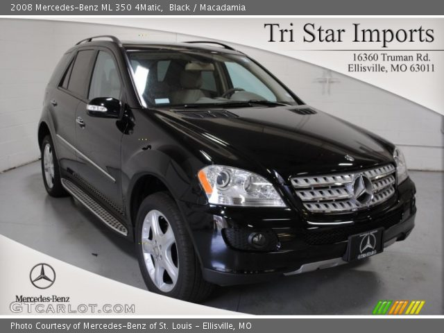 Black 2008 mercedes benz ml 350 4matic macadamia for Mercedes benz ml 350 2008