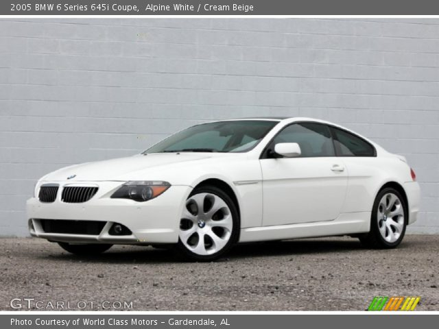 alpine white 2005 bmw 6 series 645i coupe cream beige interior vehicle. Black Bedroom Furniture Sets. Home Design Ideas