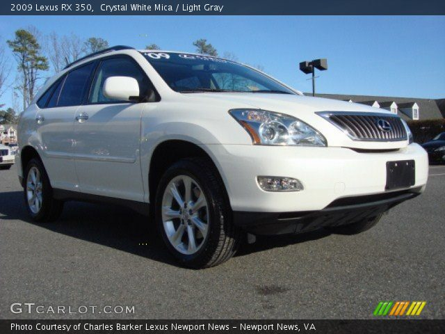 crystal white mica 2009 lexus rx 350 light gray. Black Bedroom Furniture Sets. Home Design Ideas