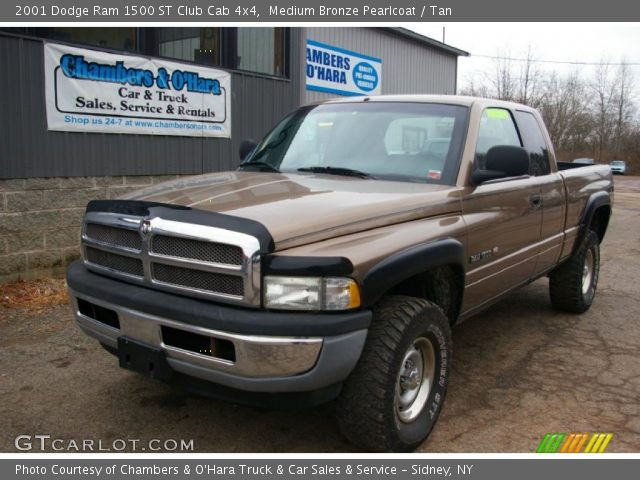 medium bronze pearlcoat 2001 dodge ram 1500 st club cab 4x4 tan interior. Black Bedroom Furniture Sets. Home Design Ideas