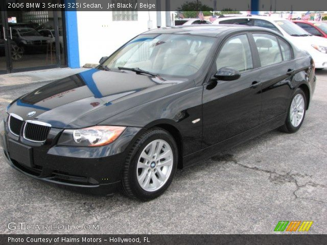 jet black 2006 bmw 3 series 325i sedan beige interior. Black Bedroom Furniture Sets. Home Design Ideas