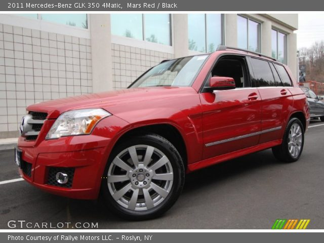 Mars Red 2011 Mercedes Benz Glk 350 4matic Black