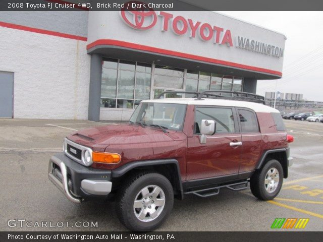 brick red 2008 toyota fj cruiser 4wd dark charcoal interior vehicle archive. Black Bedroom Furniture Sets. Home Design Ideas