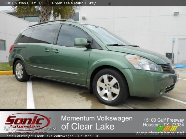green tea metallic 2004 nissan quest 3 5 se gray interior vehicle archive. Black Bedroom Furniture Sets. Home Design Ideas