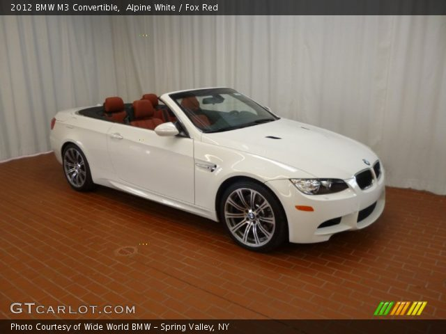 Alpine White 2012 Bmw M3 Convertible Fox Red Interior Vehicle Archive 61026759