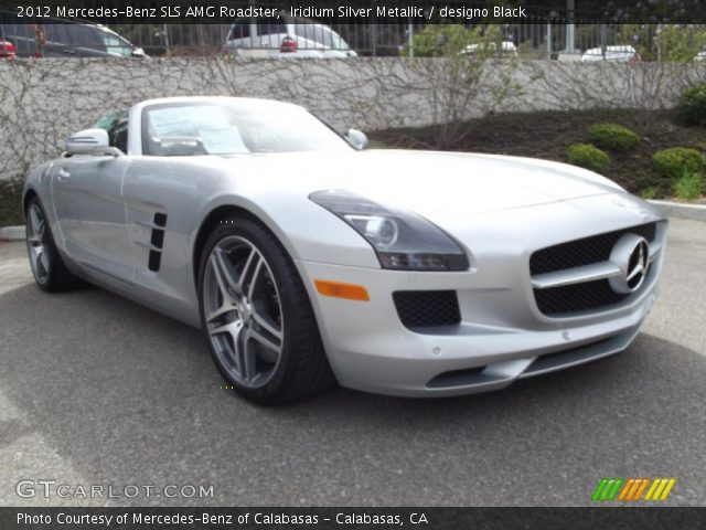 2012 Mercedes-Benz SLS AMG Roadster in Iridium Silver Metallic