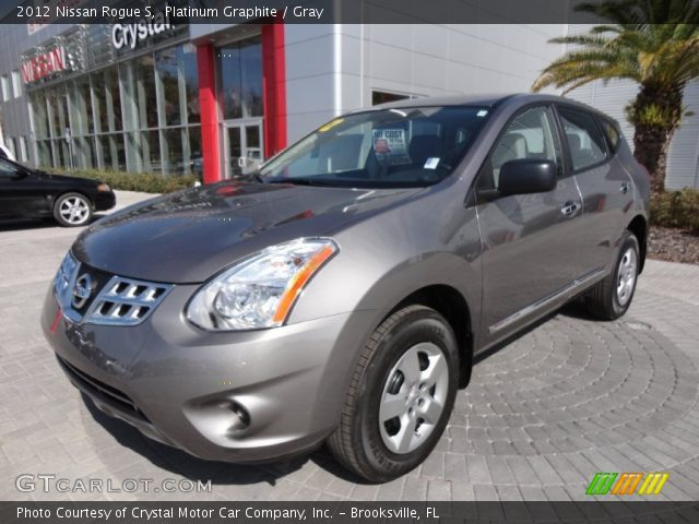 Platinum Graphite 2012 Nissan Rogue S Gray Interior Vehicle Archive 61074978