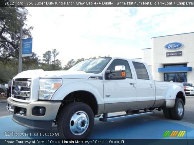 white platinum metallic tri coat 2012 ford f350 super duty king ranch crew cab 4x4 dually. Black Bedroom Furniture Sets. Home Design Ideas