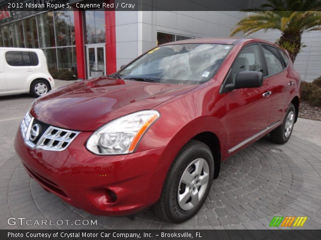 Cayenne Red 2012 Nissan Rogue S Gray Interior Vehicle Archive 61113140