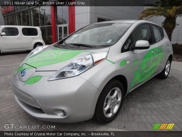 Brilliant Silver 2011 Nissan Leaf Sv Light Gray Interior