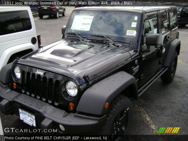 Black  2012 Jeep Wrangler Unlimited Call of Duty MW3 Edition 4x4