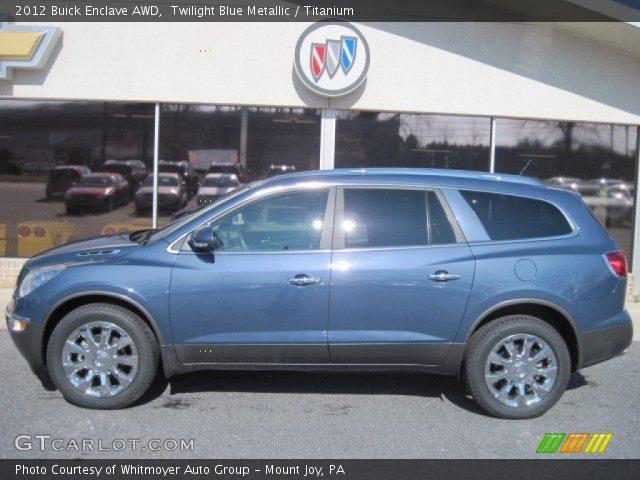 Twilight Blue Metallic 2012 Buick Enclave Awd Titanium Interior Vehicle