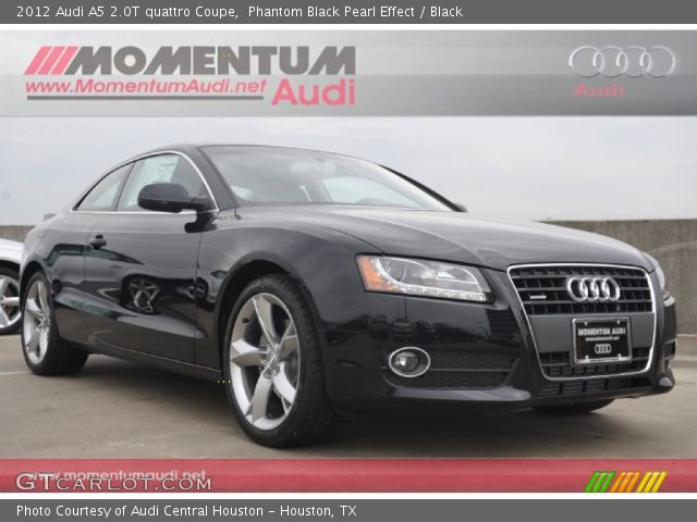 Phantom Black Pearl Effect 2012 Audi A5 2.0T quattro Coupe with Black