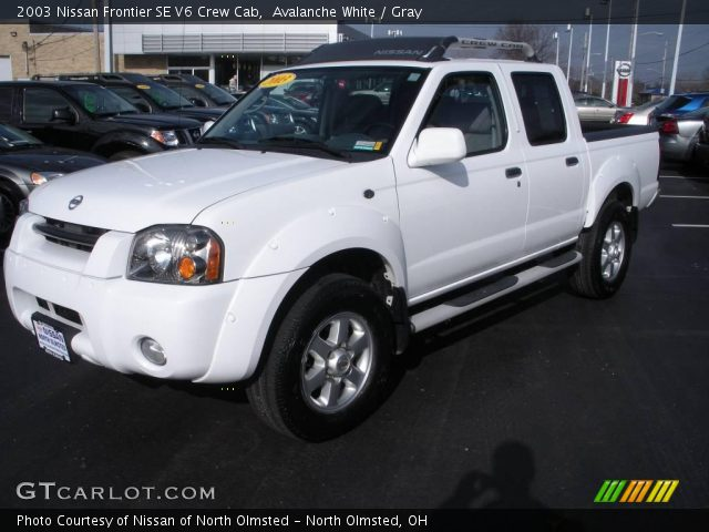 avalanche white 2003 nissan frontier se v6 crew cab. Black Bedroom Furniture Sets. Home Design Ideas