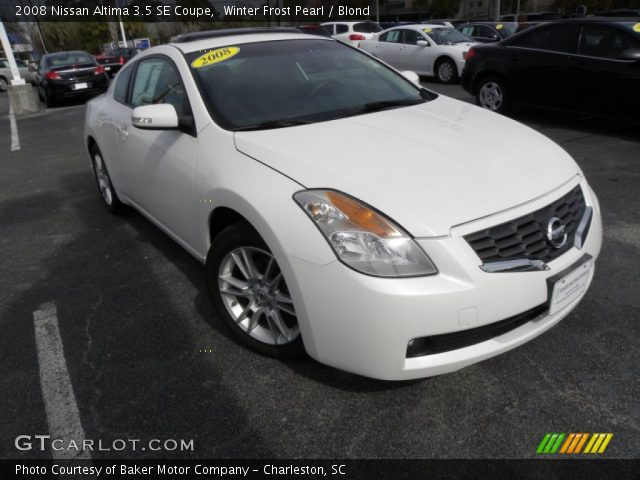 winter frost pearl 2008 nissan altima 3 5 se coupe blond interior vehicle. Black Bedroom Furniture Sets. Home Design Ideas