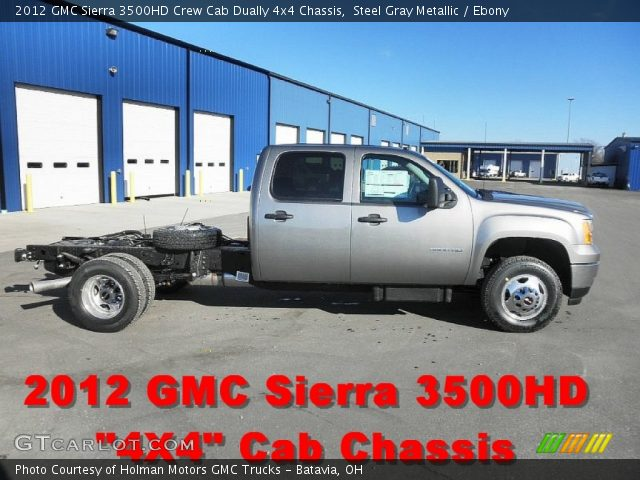 2012 GMC Sierra 3500HD Crew Cab Dually 4x4 Chassis in Steel Gray Metallic