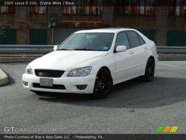 crystal white 2005 lexus is 300 black interior vehicle archive 61242198. Black Bedroom Furniture Sets. Home Design Ideas