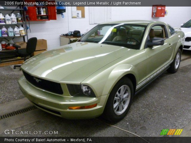 Legend Lime Metallic 2006 Ford Mustang V6 Deluxe Coupe