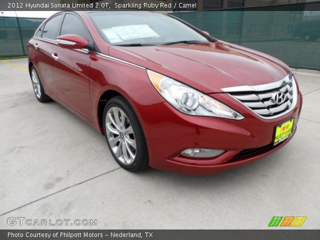 sparkling ruby red 2012 hyundai sonata limited 2 0t camel interior vehicle. Black Bedroom Furniture Sets. Home Design Ideas
