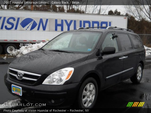 2007 Hyundai Entourage Limited in Galaxy Black