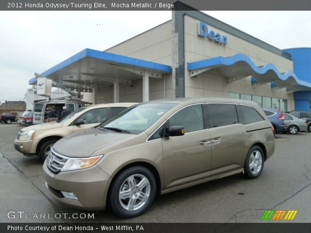 mocha metallic 2012 honda odyssey touring elite beige interior vehicle. Black Bedroom Furniture Sets. Home Design Ideas