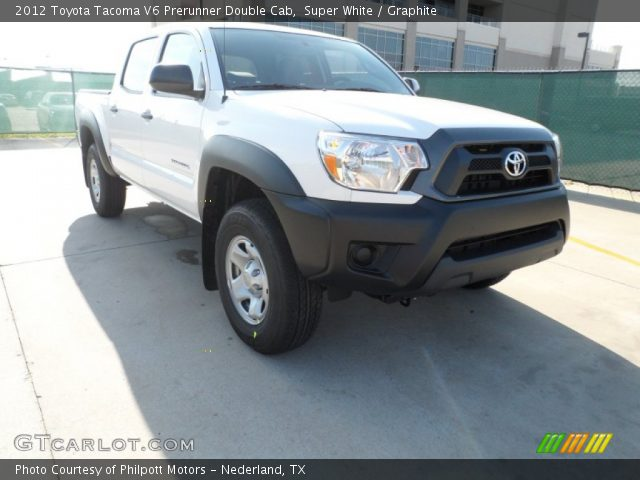 super white 2012 toyota tacoma v6 prerunner double cab graphite interior. Black Bedroom Furniture Sets. Home Design Ideas