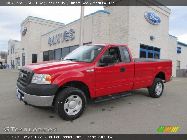 bright red 2007 ford f150 xl regular cab 4x4 medium flint interior vehicle. Black Bedroom Furniture Sets. Home Design Ideas
