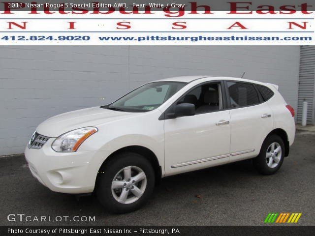 pearl white 2012 nissan rogue s special edition awd gray interior vehicle. Black Bedroom Furniture Sets. Home Design Ideas