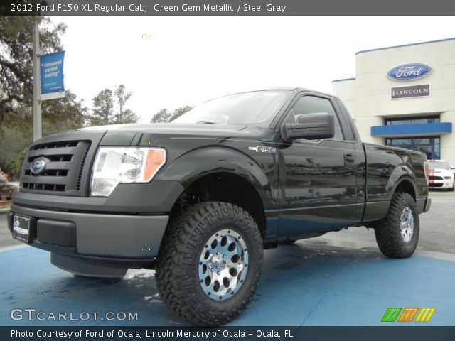 green gem metallic 2012 ford f150 xl regular cab steel gray interior. Black Bedroom Furniture Sets. Home Design Ideas