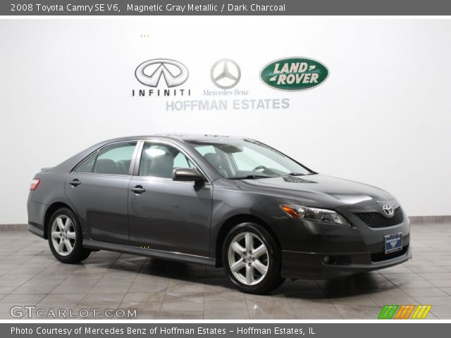 magnetic gray metallic 2008 toyota camry se v6 dark charcoal interior. Black Bedroom Furniture Sets. Home Design Ideas