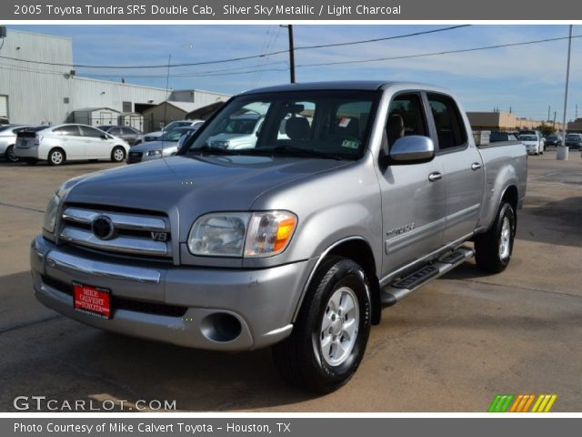 silver sky metallic 2005 toyota tundra sr5 double cab light charcoal interior. Black Bedroom Furniture Sets. Home Design Ideas