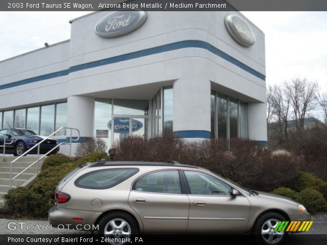 Arizona Beige Metallic 2003 Ford Taurus SE Wagon with Medium Parchment ...