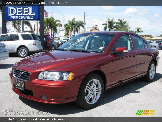 maple red 2008 volvo s60 2 5t taupe interior. Black Bedroom Furniture Sets. Home Design Ideas