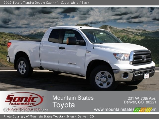 super white 2012 toyota tundra double cab 4x4 black interior vehicle. Black Bedroom Furniture Sets. Home Design Ideas