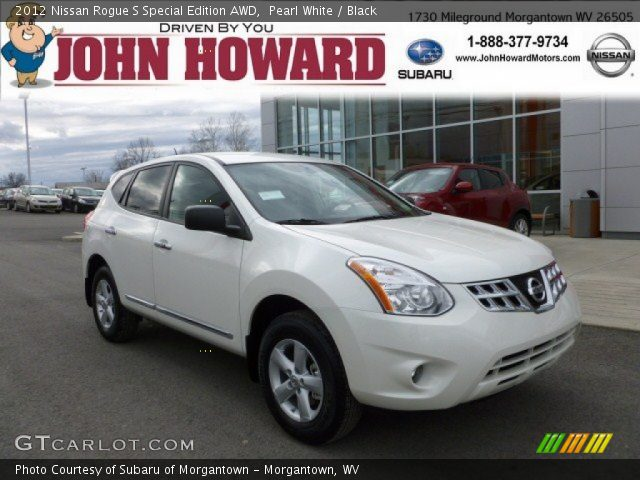 pearl white 2012 nissan rogue s special edition awd black interior vehicle. Black Bedroom Furniture Sets. Home Design Ideas