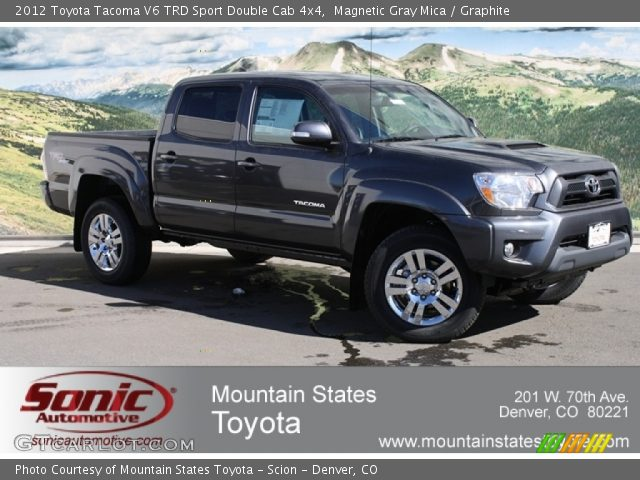 2012 Toyota Tacoma V6 TRD Sport Double Cab 4x4 in Magnetic Gray Mica