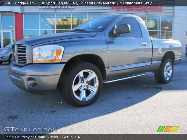 mineral gray metallic 2006 dodge ram 1500 sport regular cab medium slate gray interior. Black Bedroom Furniture Sets. Home Design Ideas