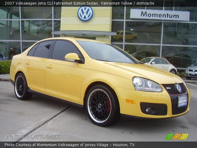 Vw Jetta Gli Fahrenheit. Fahrenheit Yellow 2007 Volkswagen Jetta GLI Fahrenheit Edition Sedan with Anthracite interior 2007 Volkswagen Jetta GLI Fahrenheit Edition Sedan in