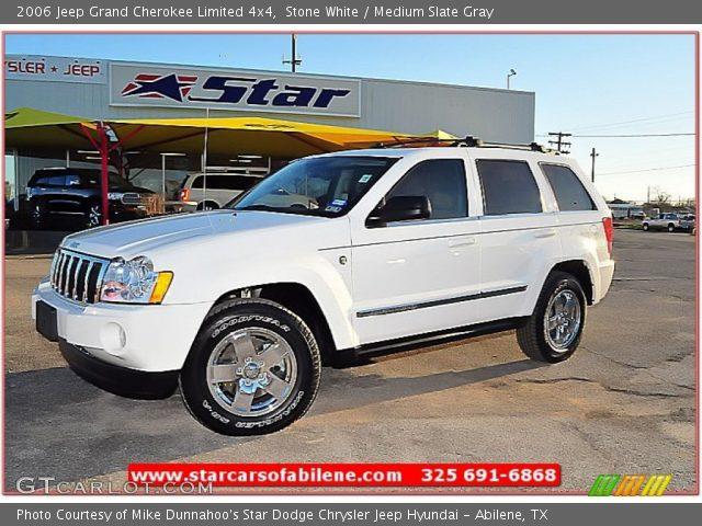 Stone White 2006 Jeep Grand Cherokee Limited 4x4 Medium Slate Gray Interior