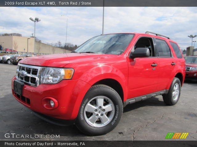 torch red 2009 ford escape xlt 4wd stone interior. Black Bedroom Furniture Sets. Home Design Ideas