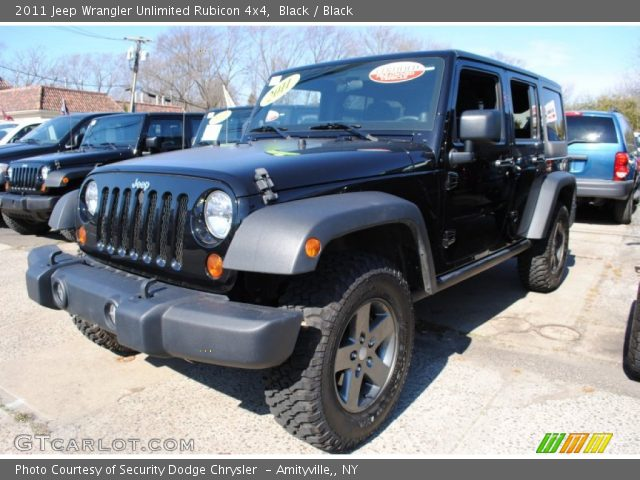 black 2011 jeep wrangler unlimited rubicon 4x4 black interior vehicle. Black Bedroom Furniture Sets. Home Design Ideas