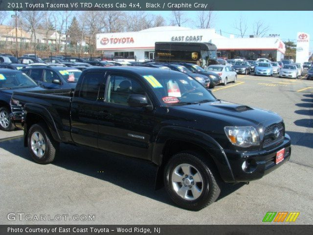 black 2011 toyota tacoma v6 trd access cab 4x4 graphite gray interior. Black Bedroom Furniture Sets. Home Design Ideas
