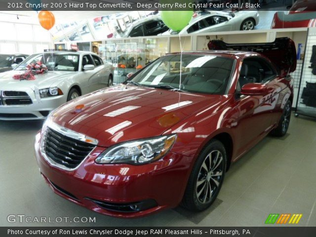 2012 Chrysler 200 S Hard Top Convertible in Deep Cherry Red Crystal Pearl Coat