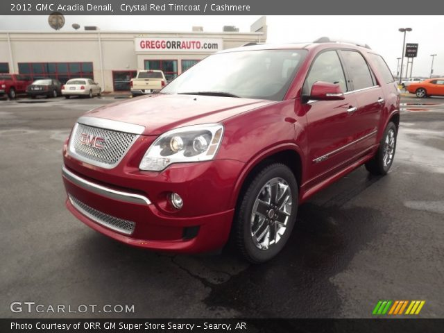 Crystal Red Tintcoat 2012 Gmc Acadia Denali Cashmere Interior Vehicle