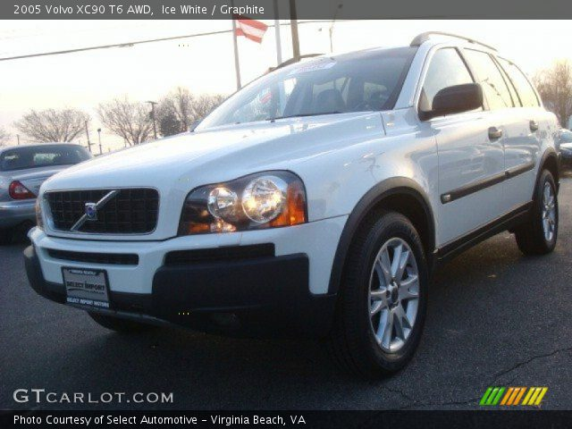 2005 Volvo XC90 T6 AWD in Ice White