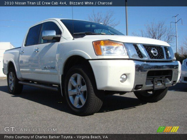 blizzard white 2010 nissan titan le crew cab 4x4. Black Bedroom Furniture Sets. Home Design Ideas
