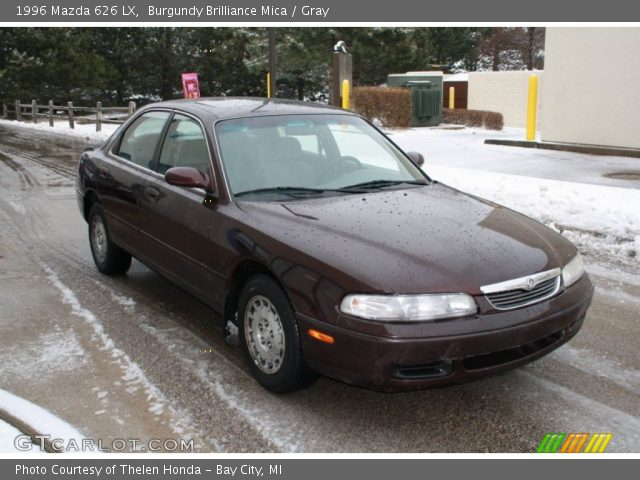 burgundy brilliance mica 1996 mazda 626 lx gray. Black Bedroom Furniture Sets. Home Design Ideas