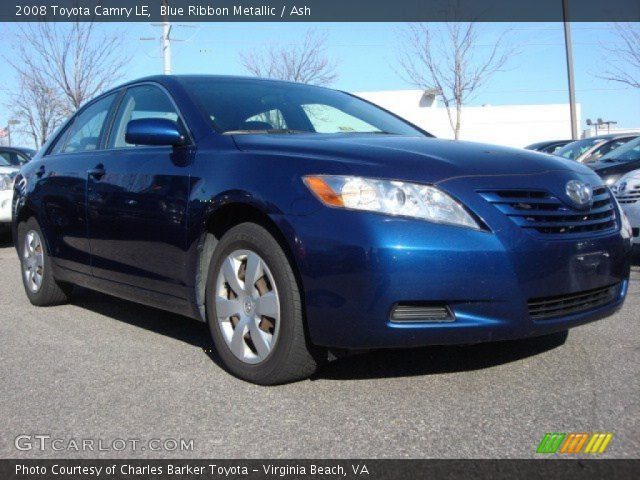 blue ribbon metallic 2008 toyota camry le ash interior vehicle archive. Black Bedroom Furniture Sets. Home Design Ideas